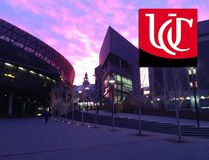 In this Facebook photo, the University of Cincinnati campus is seen alongside its logo. University of Cincinnati / Facebook