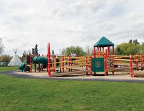 A look at the handicapped accessible playground located in Red Deer on the north side of River Glen School. The hope is that Bentley School's Joslyn Snow Memorial playground will be accessible, like this one, by everyone. (Ashli Barrett Photography)