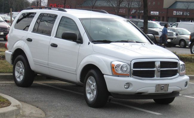 A white 2005 Dodge Durango, like the one pictured here, is in the Hanna area and has been involved in suspicious activity. RCMP are asking people contact them at 403-854-3391 if they see the vehicle.