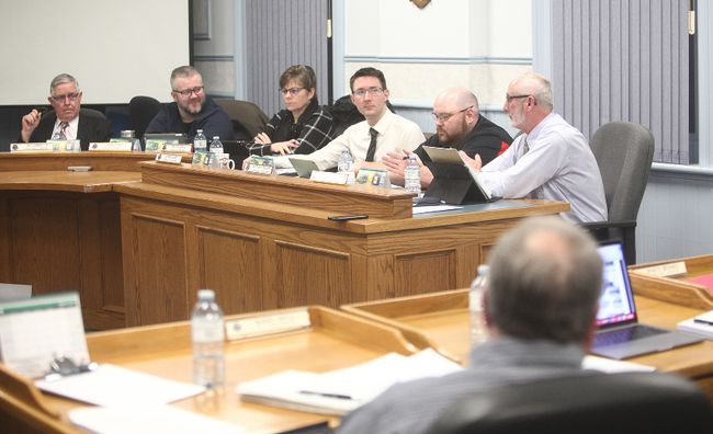 """Huron East Council defeated a motion of adding garbage collection to ratepayers' property taxes March 6. Even though BrownsSanitation is out of business, trash will remain """"status quo."""" with bag tags. (Photo taken by Shaun Gregory/Huron Expositor)"""