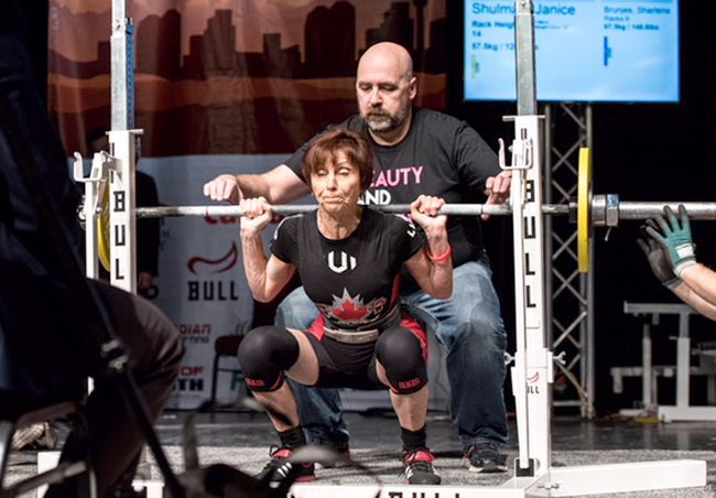 Jan Shulman set four national records at the 2018 Canadian Powerlifting Championships in Calgary.