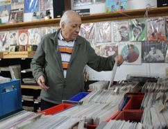 <p>Brian Lonergan, the man with the vinyl records, in one area of his huge setup - with over 12,000 LPs - at the McHaffie Flea Market, on Sunday, March 11, 2018, in Morrisburg, Ont. </p><p> Todd Hambleton/Cornwall Standard-Freeholder/Postmedia Network