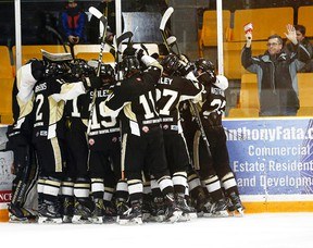 The 2017-18 OJHL season is over for the Trenton Golden Hawks — and their fans. (OJHL Images)