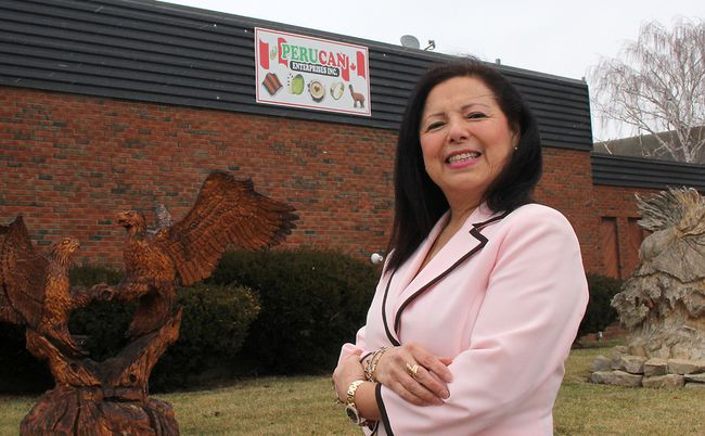 Cecilia Mackey, a native of Peru, has made Chatham-Kent, Ont. her new home as well as opened a new business, Perucan Enterprises. She plans to attract Peruvian investment to the community as well as help facilitate local exports to the South American country. She is pictured in front of her business, located in Grande Pointe, Ont. on Wednesday March 7, 2018. (Ellwood Shreve/Chatham Daily News)