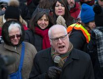 Alex Neve of Amnesty International, pictured here during an anti President Trump protest at the Embassy of the United States in Ottawa, will be the latest Herr Lecture series speaker. (Wayne Cuddington/Postmedia Network)