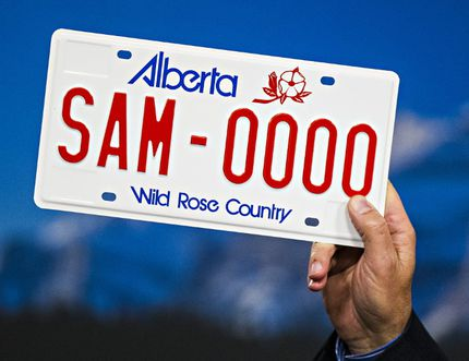 Front and rear licence plates could be something the Town of Blackfalds will lobby the provincial government for. (Codie McLachlan/Postmedia Network)