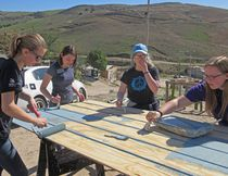 PHOTO COURTESY OF PALLISER REGIONAL SCHOOLS. Brant Christian School students at work on a new home build during their Mexican mission.