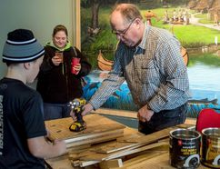 <p>Dr. Brian Hickey building bat houses with the young learners who took part in the hands on science programs offered at the OPG Visitor Centre through March Break, on Wednesday March 14, 2018 in Cornwall, Ont. </p><p> Marc Benoit/Special to the Cornwall Standard-Freeholder/Postmedia Network