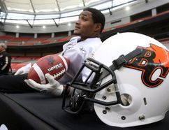 The Supreme Court of Canada will not hear the case of a former Canadian Football League star who wanted to sue the league over concussion trauma. B.C. Lions wide receiver Arland Bruce III takes a break during a practice in Vancouver, Friday, November 25, 2011. THE CANADIAN PRESS/Ryan Remiorz