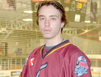 Goalie Tyler Masternak turned aside all 40 shots fired his way as the Timmins Rock blanked the Hearst Lumberjacks 5-0 in Game 3 of their best-of-three NOJHL East Division quarterfinal series at the Claude Larose Arena Wednesday night. The Rock will now move on to face the oodoos — Masternak's former team — in the East Division best-of-seven semi-final series that gets underway Friday night at the Powassan Sportsplex. THOMAS PERRY/THE DAILY PRESS