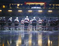 LUKE HENDRY/Intelligencer file photo The Belleville Senators assemble before their first game at Yardmen Arena Wednesday, Nov. 1, 2017.