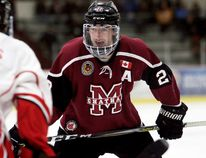 Chatham Maroons' Bryce Yetman plays against the Leamington Flyers at Chatham Memorial Arena in Chatham, Ont., on Sunday, Jan. 28, 2018. (MARK MALONE/Chatham Daily News/Postmedia Network)