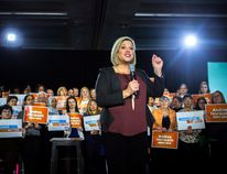 Ontario NDP leader Andrea Horwath makes a campaign announcement in Toronto on Saturday, March 17, 2018. THE CANADIAN PRESS/Chris Donovan
