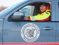Brandon Spence is pictured here outside the fire hall on Kashechewan First Nation. Spence is both fire chief and emergency coordinator – a job he's dreamt about since childhood. However, he hopes one day to not have to plan the annual evacuations that see the community displaced each spring.