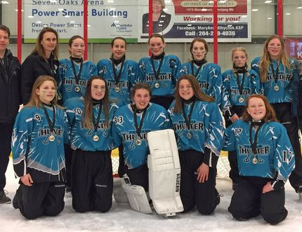The U-14A Thunder team with their silver medals. (Submitted photo)