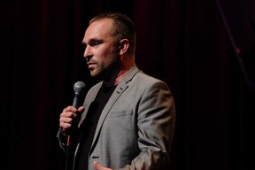 Submitted photo                   Comedian Derek Seguin is bringing his comedy tour to Belleville May 12 at The Empire Theatre.