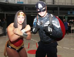 KEVIN RUSHWORTH HIGH RIVER TIMES/POSTMEDIA NETWORK. Guests flocked to the first annual Foothills Comic Con, which was held at the Crescent Point Regional Fieldhouse in October 2017. Husband and wife duo Trish Ariss and Cam Ursel from Okotoks dressed as Wonder Woman and Captain America