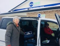 ONE CARE is now delivering Meals on Wheels into rural areas in North and South Huron with the addition of a temperature controlled truck that keeps meals hot until they are delivered to individual homes. Jenny and Ray Lambers of Clinton are among the hundreds of volunteers who deliver Meals on Wheels, ensuring that seniors have a good hot meal - and delivered with a warm smile. Last year ONE CARE delivered over 32,000 meals in Huron and Stratford and area. (PHOTO COURTESY OF ONE CARE)