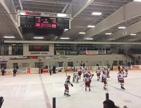 """The Radars took the lead in the WOAA """"AA"""" Senior Finals last weekend when they tamed the Thundercats, taking the wins both Friday (pictured) and Saturday night. The boys will host the Thundercats for game three this Friday at what promises to be an epic clash! (PHOTO BY IZZY SIEBERT/CLINTON NEWS RECORD)"""