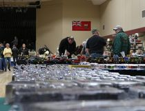 The Morden Lions Toy Show featured 83 tables of tractors, Lego, dolls, trains and even a diorama. Kids could also play with remote control vehicles. (LAUREN MACGILL, Morden Times)