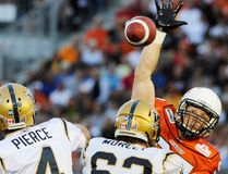 Former defensive lineman Brent Johnson of Kingston, right, and cornerback and special teams standout Barron Miles will be inducted into the Hall later this year, alongside a roster of 2018 inductees that also includes Hank Ilesic, Scott Flory and the late Tommy Hugo. (Postmedia Network file photo)