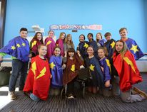 Grades 5 through 8 student members of the sewing club at Southview Public School in Napanee made superhero capes to donate to the Pediatrics ward at Kingston General Hospital. Meghan Balogh/The Whig-Standard/Postmedia Network