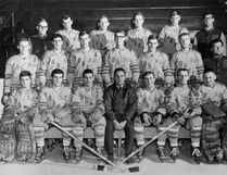 James 'Jimmy' Fuller, on the far left in the second row, and the 1966-1967 Lake Superior State Lakers. (Supplied Photo)