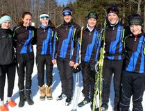 Sean Chase/Daily Observer Pembroke Nordic Ski Club recently wrapped up their 2017-18 season. In the membership are (left to right) Catherine Bell, Samantha Csisztu, Sophie Levasseur, Thomas Pelchat, Raphael Guerout, Guillaume Pelchat and Liam McDonald.