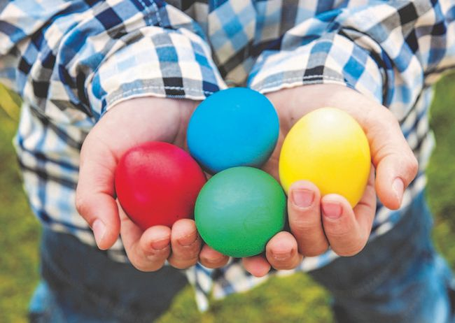 Experiment with different egg materials to make Easter eggs easier to handle and more durable.