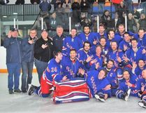 "Having had a perfect regular season of 20 wins and no losses, the Clinton Radars followed it up by recording 12 wins and 2 losses in the playoffs to capture the WOAA Senior ""AA"" Championship. This year is the third year in a row the hometown boys have earned the title! CONTRIBUTED PHOTO"