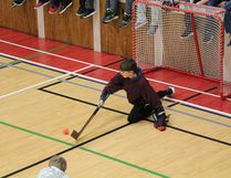 Goaltenders got a workout on the boys' side of the Grade 6 floor hockey tournament for Melfort elementary schools at Brunswick school on Wednesday, March 28. The activity is a chance for Grade 6 students to get to know each other before entering MUCC as a Grade 7 student.