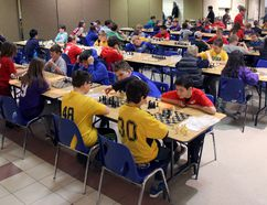 Over 120 kids from 19 schools across the county gathered Tuesday to compete in this year's Perth County Elementary Chess Tournament held at the Army Navy and Air Force Veterans Hall in Stratford. JONATHAN JUHA/THE BEACON HERALD/POSTMEDIA NEWS