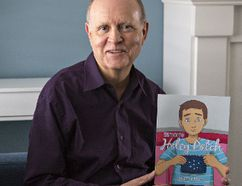 Retired teacher James Durka of Port Dover has written a children's book called Simon's Holey Patch. (Brian Thompson/The Expositor)