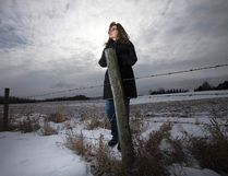 Bremner resident Lois Gordon says she's concerned over a lack of communication between the county and residents adjacent to the approved location of the multipurpose agricultural facility. David Bloom/Postmedia Network