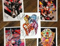 A preview of some of of the artwork WWE artist-in-residence Rob Schamberger will have available as part of WrestleMania Fan Axxess in New Orleans this week. (Photo courtesy of Rob Schamberger)