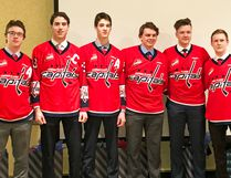 Central Plains Capitals graduating boys (l-r) Tyler Van Deynze, Reilly Funk, Jaxon Blight, Riley Sveistrup, Joe Courrier and Jordan Rogers pose for one final photo as Capitals last night at the Canad Inns in Portage la Prairie as the organization handed out their team awards. (supplied photo)