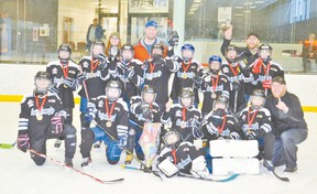 Submitted The AtoMc 5C team wrapped up their season with a gold medal win at a tournament in Calgary. This is the first year for an all-girls atom team.