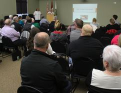 <p>Part of the big gathering at the 2018 municipal elections candidate information workshop on Thursday, April 5, 2018, in Long Sault, Ont. </p><p> Todd Hambleton/Cornwall Standard-Freeholder/Postmedia Network