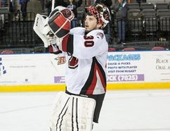 Danny Battachio is shown during his time with the Rapid City Rush of the ECHL. Photo supplied