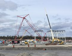 The building of Feihe International's infant formula plant is expected to boost the Kingston area's construction and manufacturing sectors, according to a report. Elliot Ferguson/The Whig-Standard/Postmedia Network