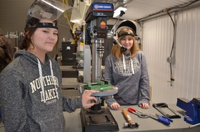 PHOTO SUPPLIED Dual credit students inside the NLC Mobile Trades Lab.