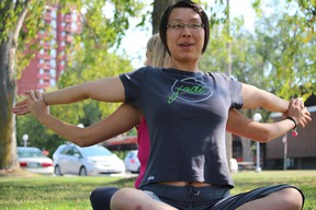Jade Yoga's Shirling Kao will lead a family yoga session during Earth Day festivities at Art Gallery of Algoma on April 22.