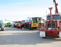 The lineup of trucks, tractors, combines and other machinery was a sure sign something was going on inside the Fairview Arena this past weekend with the NorthernLInk Agriculture and Home Show filling the arena and Legion Hall with displays.(See pages 2-3 for more information and photos).