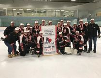 The Norfolk midget BB HERicanes captured the Ontario Women's Hockey Association provincial title for a second straight year this past weekend. Back row from left, Darren Courrier, Jenna Foley, Mackenzie Cunningham, Erika Poredos, Teagan Byers, Hope Lesage, Erin Benko, Emma Couwenberg, Lana Hodgson, Leann Blake, Michelle Goble, Daniella Michaud, Meghan Costigan, Ralph Bauer. Front row, Marg Bauer, Leah Dykstra, Rachel Bauer, Kaitlyn Courrier, Amelia Skinner, Mikayla Coates. Contributed photo