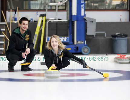 Colton Lott and Kadriana Sahaidak recently represented Team Manitoba at the 2018 Mixed Doubles Curling Championships. The duo returned home with silver medals April 2.