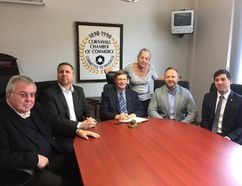 <p>Handout/Cornwall Standard-Freeholder/Postmedia Network</p><p> The new executive members of the Cornwall and Area Chamber of Commerce: past-president Denis Carr, 2nd vice-president Todd Lihou, president Rory MacLennan, executive manager Lezlie Strasser, 1st vice-president Patrick Larose, and treasurer Shawn Filion.