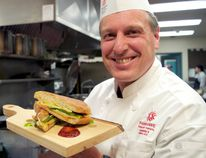 Chef James Smith, chair of Fanshawe College's School of Tourism, Hospitality and Culinary Arts, has a few ideas for celebrating National Grilled Cheese Day. (CHRIS MONTANINI\LONDONER)
