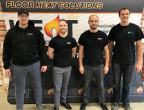 Left, Operations Manager Colton Wall, Financial Controller Daniel Fot, Sales Manager Mike Dueck and Shipping Manager Braden Wall.