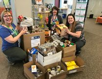 In March, the Fort Saskatchewan Public Library's Food of Fines fundraiser for the food bank was a great success and waived more than $500 in overdue fines in exchange for non-perishables.