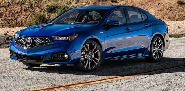 A stock photo of the suspect vehicle, a blue 2018 Acura TLX, involved in the suspicious death of Edmonton's Harpreet (Harry) Kang on April 9.
